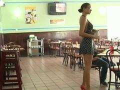 Sex for cash in diner