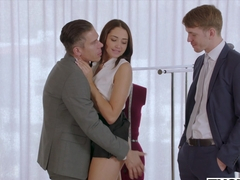 TUSHY Assistant Gets DP'd By Boss And Friend