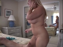 Big blonde mom fucked hard video