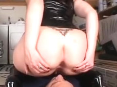 Cute Hottie Smothering A Guy With Her Butt And Tits