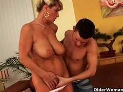 Older woman squirting