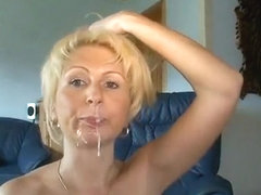 Granny'S Holes Gets Cummed By Stud