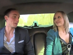 Rich boy fucks a German babe in the car
