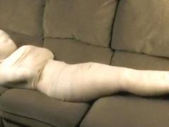 Mummification footjob tube