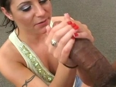 Milf gets interracial anal in officechair opinion you