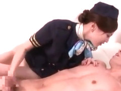 Matchless Naked flight attendants sucking customers cocks are mistaken