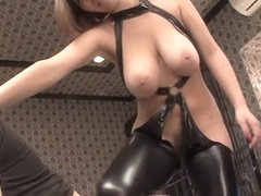 Horny Japanese whore in Crazy MILF, Latex JAV movie